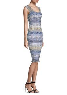 St. John Tweed Knit Sheath Dress
