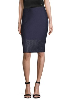 St. John Tweed Pencil Skirt