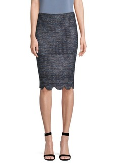 St. John Twinkle Texture Pencil Skirt