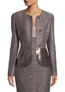 St. John Twisted Sequin Knit Jacket