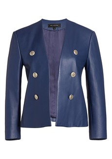 St. John Ultimate Nappa Leather Quarter-Sleeve Jacket