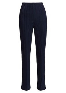 St. John Variegated Ribbed Side Slit Pants