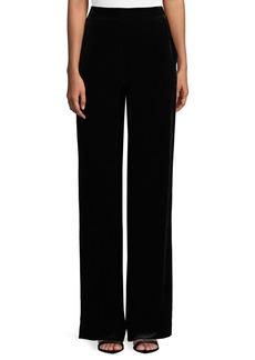 St. John Velvet Straight-Leg Pants
