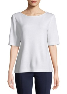 St. John Wool-Blend Knit Top