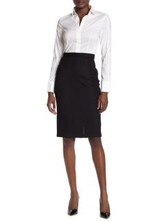 St. John Wool Blend Pencil Skirt