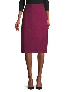 St. John Wool-Blend Pull-On Pencil Skirt