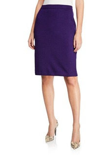 St. John Wool-Blend Straight Skirt