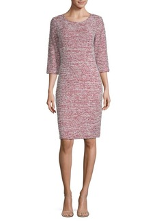 St. John Wool-Blend Textured Sheath Dress