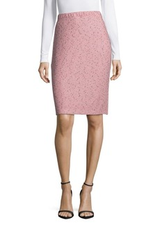 St. John Woven Textured Skirt