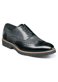 Stacy Adams Baxley Glen Plaid Wingtip (Men)