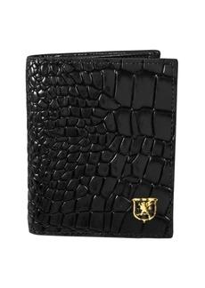 Stacy Adams Leather Croc Folding Card Holder