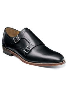 Stacy Adams M2 Plain Toe Double Strap Monk Shoe (Men)