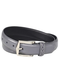 Stacy Adams Men's 30mm Pinseal Leather Belt (Reg & Big Sizes) Grey