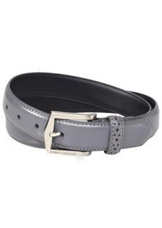 Florsheim Stacy Adams Men's 30 MM Pinseal Leather Belt with Brushed Nickel Buckle