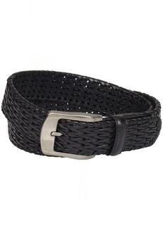 Stacy Adams Men's 32mm Hand Woven Genuine Leather Belt