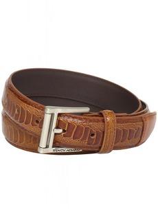 Stacy Adams Men's 32mm Ostrich Leg Embossed Genuine Leather Belt