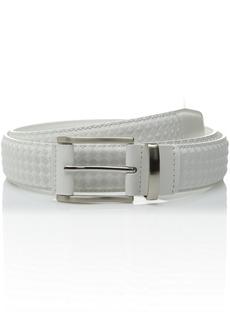 Stacy Adams Men's 34mm Diamond Embossed Leather Belt