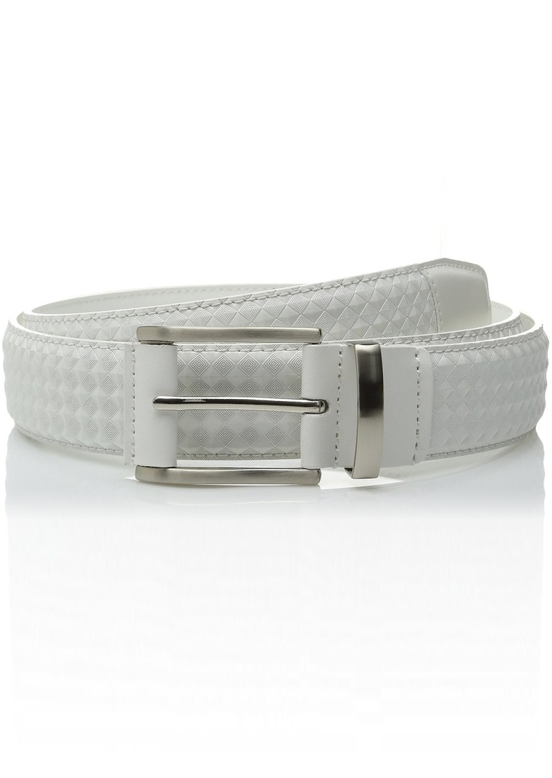 Stacy Adams Mens 38mm Genuine Leather Belt With Crisscross Design