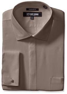 "Stacy Adams Men's 39000 Solid Dress Shirt  17.5"" Neck 34-35 Sleeve"