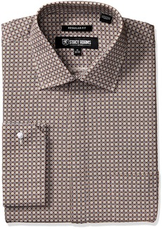 Stacy Adams Men's Abstract Floral Classic Fit Dress Shirt