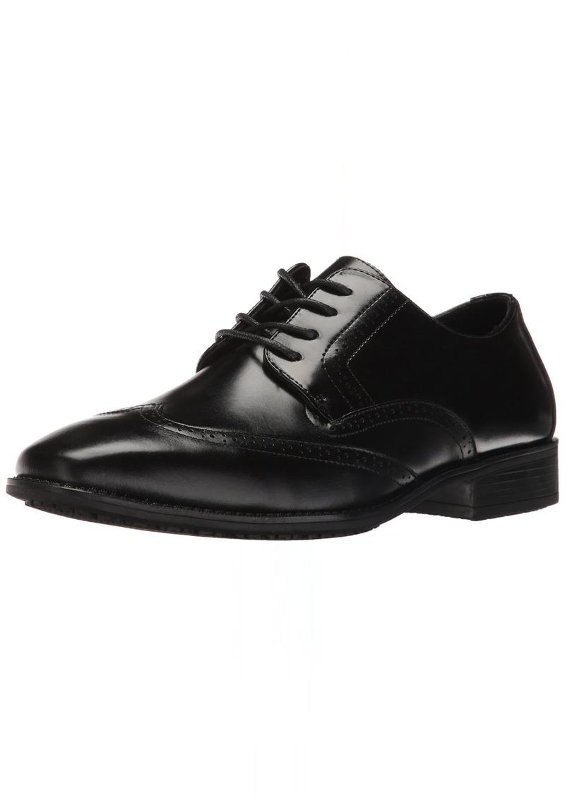STACY ADAMS Men's Adler Slip Resistant Cap Toe Oxford  8.5 W US