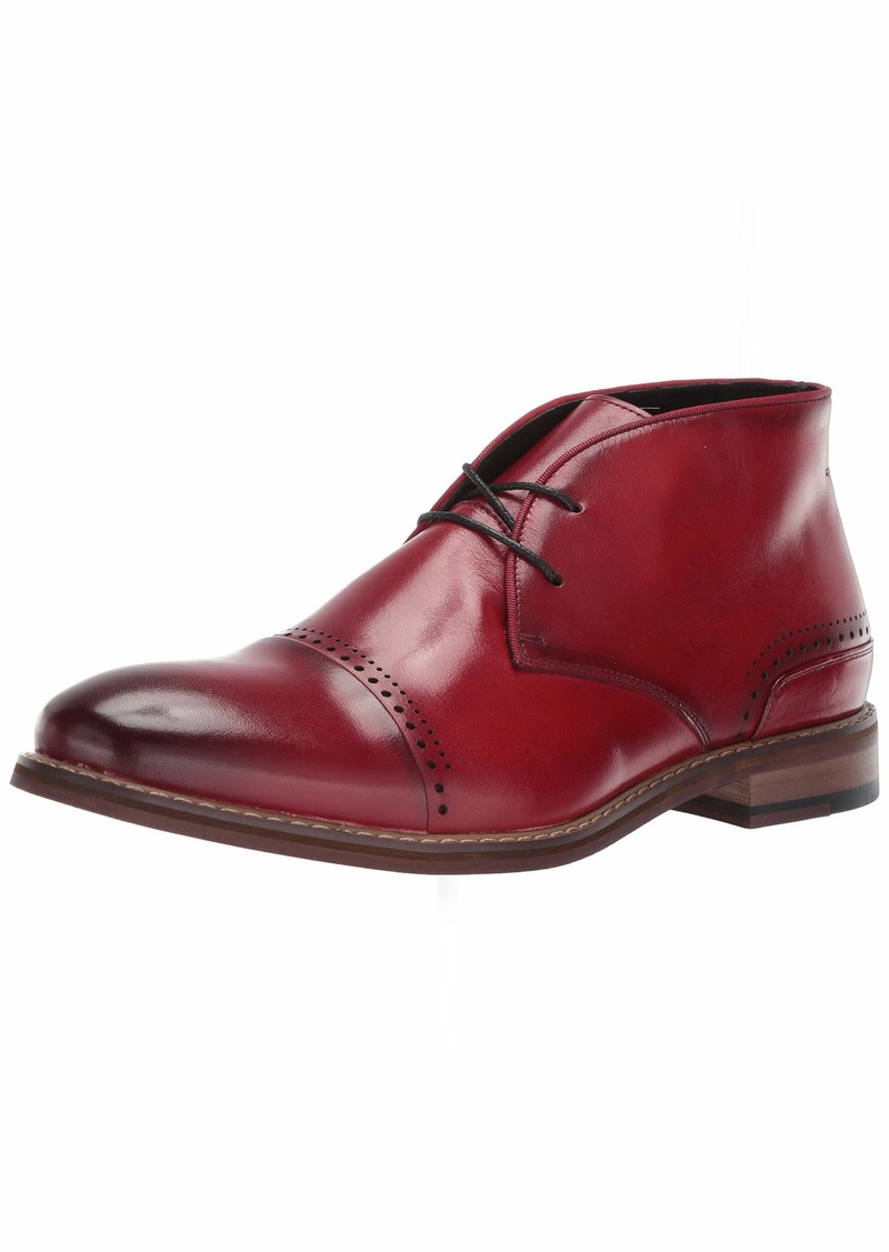 Stacy Adams Men's Ashby Cap-Toe Lace-Up Chukka Boot cranberry  M US