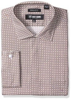 Stacy Adams Stacy Adam's Men's Big and Tall Abstract Floral Checked Classic Fit Dress Shirt