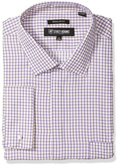 """Stacy Adams Men's Big and Tall Bold Check Classic Fit Dress Shirt  20"""" Neck 36-37 Sleeve"""