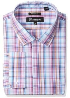 Stacy Adams Men's Big and Tall Bold Plaid Classic Fit Dress Shirt