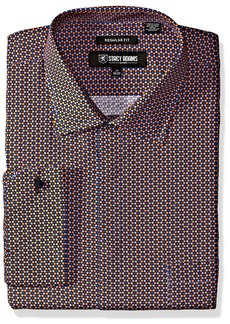 Stacy Adams Men's Big and Tall Color Plaid Classic Fit Dress Shirt
