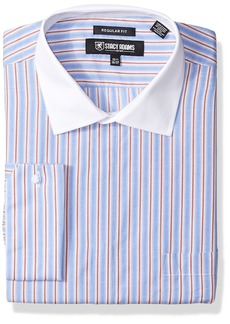 """Stacy Adams Men's Big and Tall End Stripe Classic Fit Dress Shirt  20"""" Neck 36-37 Sleeve"""
