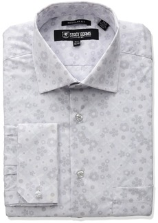 """Stacy Adams Men's Big and Tall Floral Dress Shirt  22"""" Neck 36-37 Sleeve"""