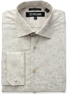 Stacy Adams Men's Big and Tall Floral Dress Shirt