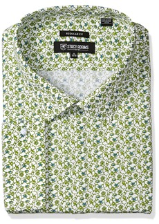 """Stacy Adams Men's Big and Tall Floral Vines Classic Fit Dress Shirt  19"""" Neck 36-37 Sleeve"""