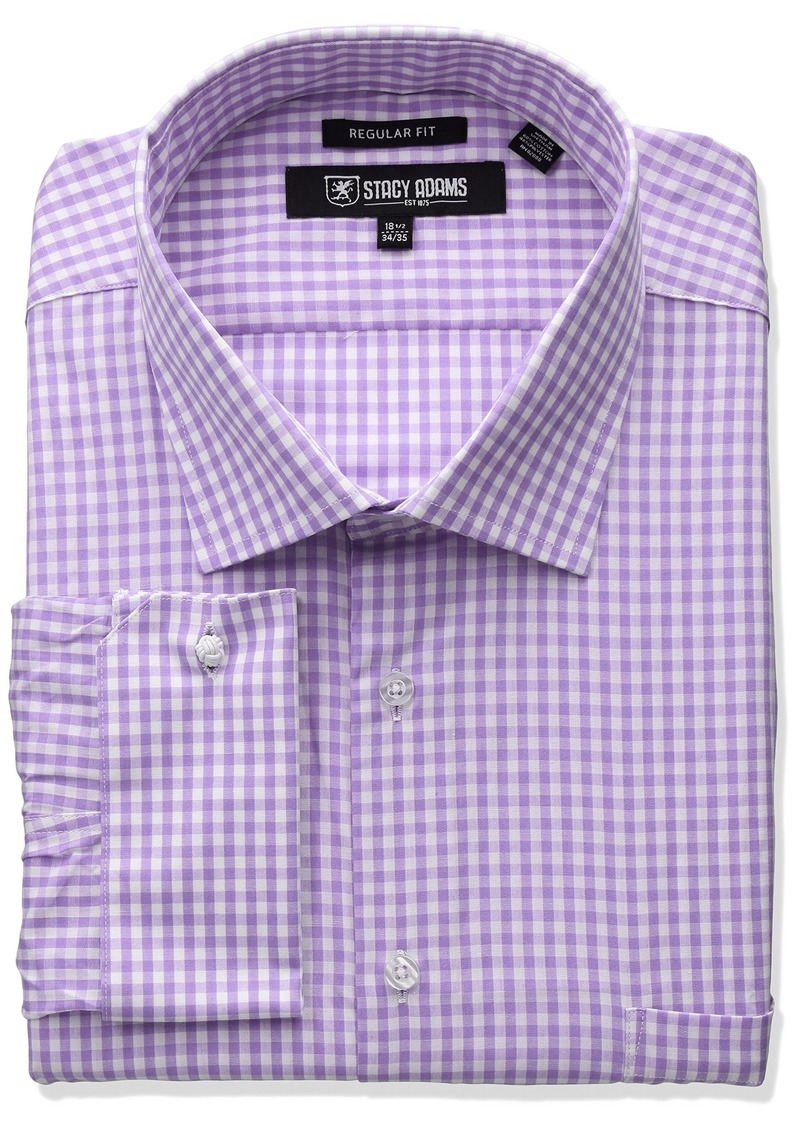 Stacy adams stacy adams men 39 s big and tall gingham check for Dress shirts for tall men