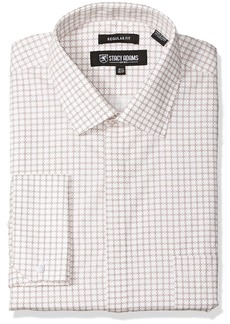Stacy Adams Men's Big and Tall Linked Circles Classic Fit Dress Shirt