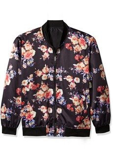 Stacy Adams Men's Big and Tall Midnight Bloom Baseball Jacket  3X-Large