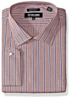 Stacy Adams Men's Big and Tall Mini Check w/Dobby Stripe Classic Fit Dress Shirt