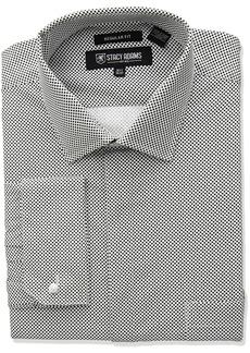"Stacy Adams Men's Big and Tall Mini Dot Classic Fit Dress Shirt  22"" Neck 34-35 Sleeve"