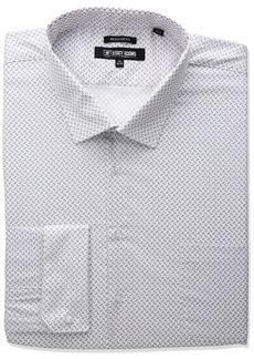 Stacy Adams Men's Big and Tall Mini Print Dress Shirt