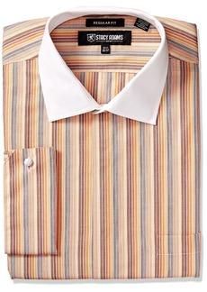 Stacy Adams Men's Big and Tall Multi Stripe Classic Fit Dress Shirt