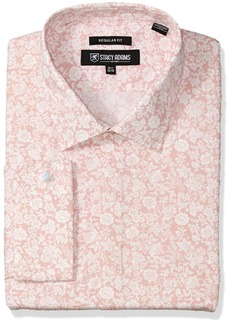 Stacy Adams Men's Big and Tall Roses Classic Fit Dress Shirt