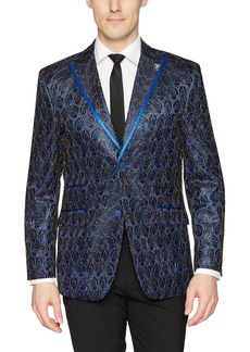 Stacy Adams Men's Big and Tall Single Breasted Electric Static Sport Coat