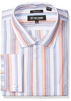 Stacy Adams Men's Big and Tall Striped Classic Fit Dress Shirt