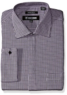 Stacy Adams Men's Big and Tall Textured Houndstooth Classic Fit Dress Shirt