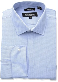 """Stacy Adams Men's Big and Tall Tonal Dobby Classic Fit Dress Shirt  18"""" Neck 36-37 Sleeve"""