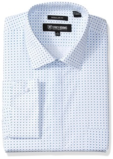 """Stacy Adams Men's Big and Tall Two Tone Dot Classic Fit Dress Shirt  18.5"""" Neck 34-35 Sleeve"""