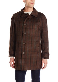Stacy Adams Men's Big-Tall Dan R Five Button Reversible Top Coat   Regular