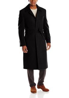 Stacy Adams Men's Big-Tall Eros Hidden Front Full Length Top Coat Black  Regular