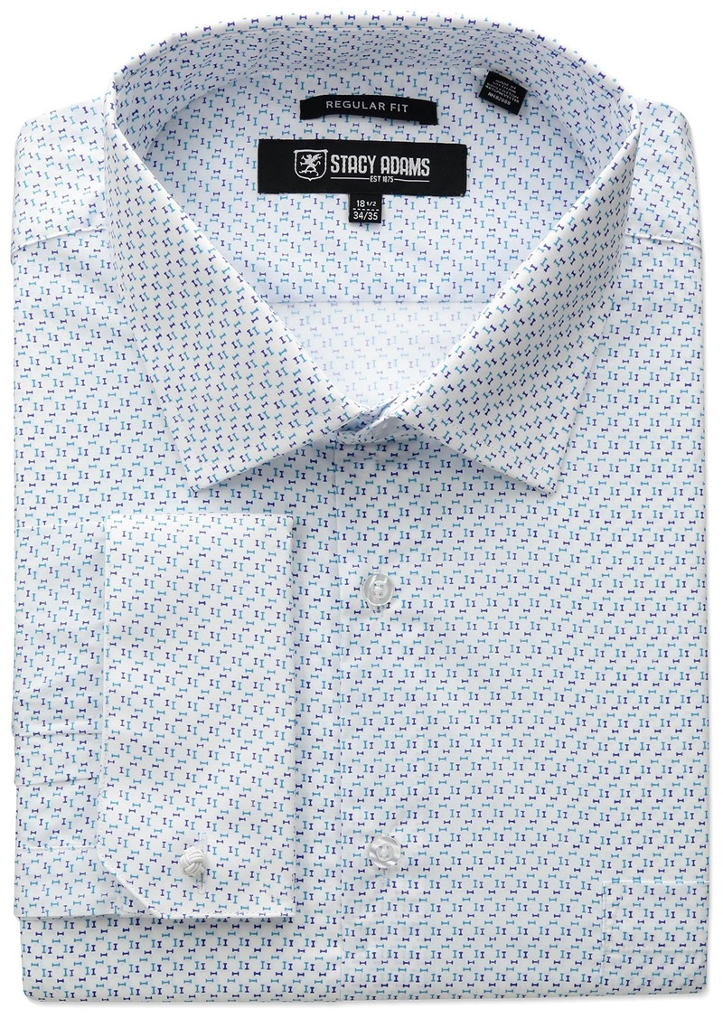 51f1530d6a6 SALE! Stacy Adams STACY ADAMS Men s Big-Tall Mini Print Dress Shirt